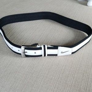 Nike leather belt